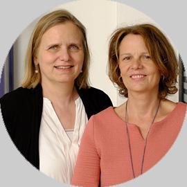 Brigitta Scheel und Birgit Matz